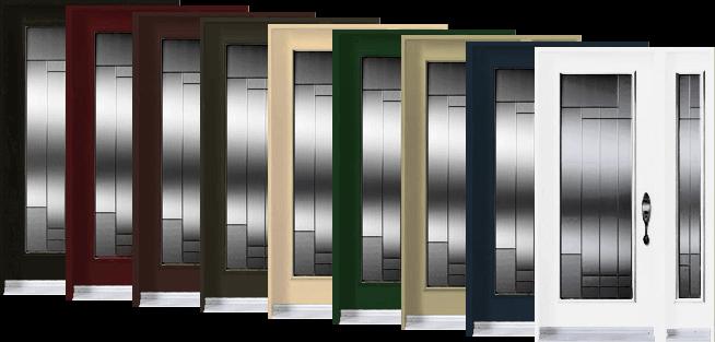 les portes dentre sont disponibles en plusieurs couleurs - Couleur Porte D Entree